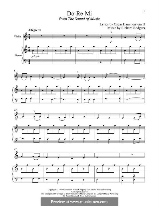 Do-Re-Mi (from The Sound of Music): Für Violine und Klavier by Richard Rodgers