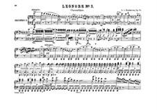 Leonore. Ouvertüre No.3, Op.72b: Version für zwei Klaviere, achthändig – Klavierstimme II by Ludwig van Beethoven