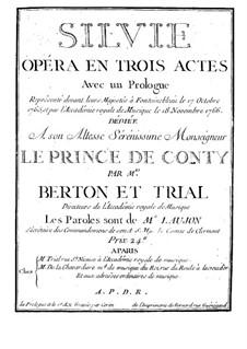 Sylvia: Ouvertüre by Pierre Montan Berton