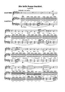 Sechs Lieder, Op.42: Nr.2 Die helle Sonne leuchtet by Robert Franz