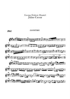 Julius Cäsar, HWV 17: Oboenstimmen by Georg Friedrich Händel
