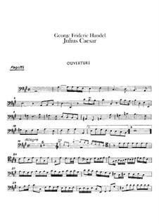 Julius Cäsar, HWV 17: Fagottstimme by Georg Friedrich Händel