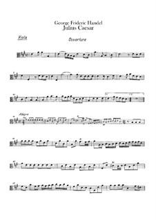 Julius Cäsar, HWV 17: Bratschenstimme by Georg Friedrich Händel