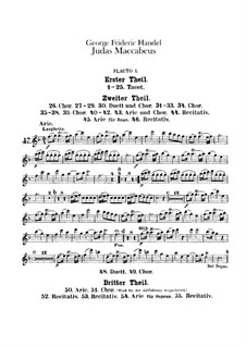 Judas Makkabäus, HWV 63: Flötenstimmen I-II by Georg Friedrich Händel