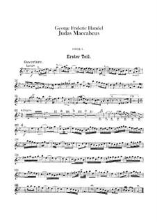 Judas Makkabäus, HWV 63: Oboenstimmen I-II by Georg Friedrich Händel