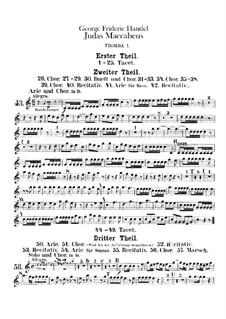 Judas Makkabäus, HWV 63: Trompetenstimmen I-III by Georg Friedrich Händel