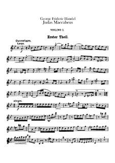 Judas Makkabäus, HWV 63: Violinstimme I by Georg Friedrich Händel
