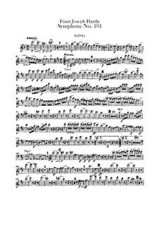 Sinfonie Nr.101 in D-Dur 'Die Uhr', Hob.I/101: Flötenstimme by Joseph Haydn