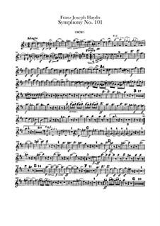 Sinfonie Nr.101 in D-Dur 'Die Uhr', Hob.I/101: Oboenstimmen by Joseph Haydn