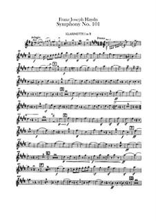 Sinfonie Nr.101 in D-Dur 'Die Uhr', Hob.I/101: Klarinettenstimmen by Joseph Haydn