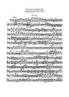 Sinfonie Nr.101 in D-Dur 'Die Uhr', Hob.I/101: Fagottstimme by Joseph Haydn