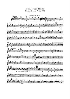 Sinfonie Nr.101 in D-Dur 'Die Uhr', Hob.I/101: Trompetenstimmen by Joseph Haydn