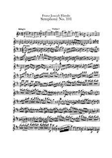 Sinfonie Nr.101 in D-Dur 'Die Uhr', Hob.I/101: Violinstimme I by Joseph Haydn