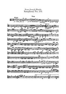 Sinfonie Nr.101 in D-Dur 'Die Uhr', Hob.I/101: Violastimme by Joseph Haydn