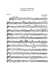 Sinfonie Nr.45 in fis-Moll 'Abschied', Hob.I/45: Oboenstimmen I-II by Joseph Haydn