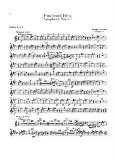 Sinfonie Nr.45 in fis-Moll 'Abschied', Hob.I/45: Hörnerstimmen I-II by Joseph Haydn