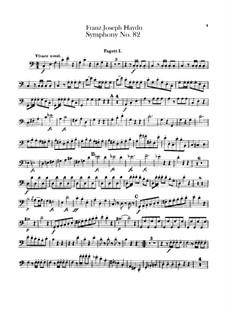 Sinfonie Nr.82 in C-Dur 'Der Bär', Hob.I/82: Fagottenstimmen I-II by Joseph Haydn
