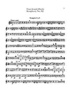 Sinfonie Nr.82 in C-Dur 'Der Bär', Hob.I/82: Trompetenstimmen I-II by Joseph Haydn