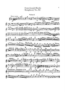 Sinfonie Nr.82 in C-Dur 'Der Bär', Hob.I/82: Violinstimme I by Joseph Haydn