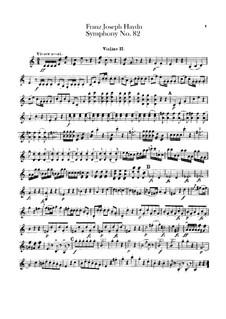 Sinfonie Nr.82 in C-Dur 'Der Bär', Hob.I/82: Violinstimme II by Joseph Haydn