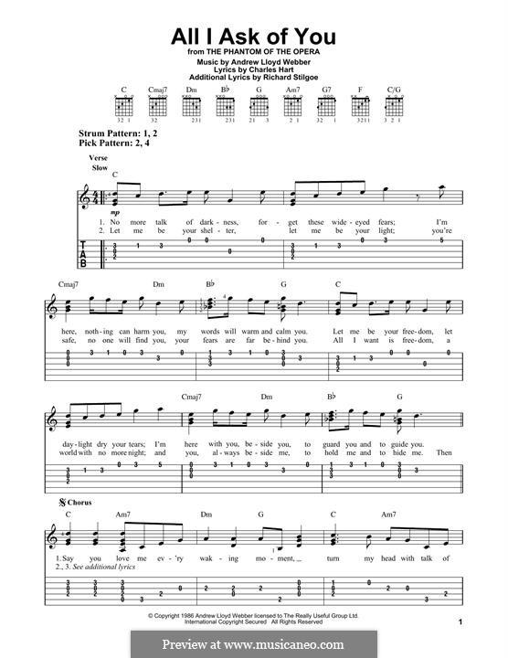 All I Ask of You: Für Gitarre by Andrew Lloyd Webber