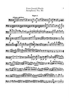 Sinfonie Nr.83 in g-Moll 'Das Huhn', Hob.I/83: Fagottstimme by Joseph Haydn