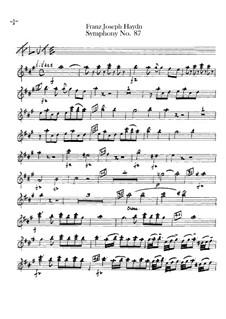 Sinfonie Nr.87 in A-Dur, Hob.I/87: Flötenstimme by Joseph Haydn