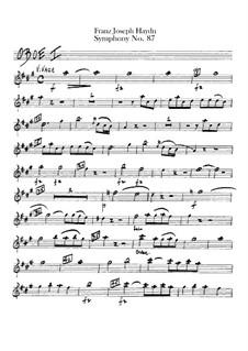 Sinfonie Nr.87 in A-Dur, Hob.I/87: Oboenstimmen I-II by Joseph Haydn