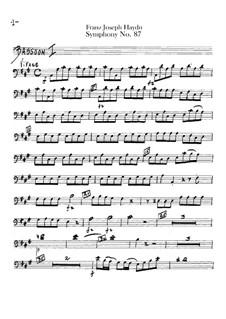 Sinfonie Nr.87 in A-Dur, Hob.I/87: Fagottenstimmen I-II by Joseph Haydn