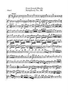 Sinfonie Nr.88 in G-Dur, Hob.I/88: Oboenstimmen I-II by Joseph Haydn