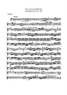 Sinfonie Nr.92 in G-Dur 'Oxford', Hob.I/92: Violinstimme I by Joseph Haydn