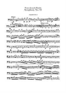 Sinfonie Nr.93 in D-Dur, Hob.I/93: Fagottenstimmen I-II by Joseph Haydn