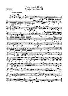 Sinfonie Nr.94 in G-Dur 'Überraschung', Hob.I/94: Violinstimme II by Joseph Haydn