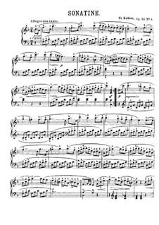 Sechs Sonatinen, Op.55: Sonatine Nr.4 by Friedrich Kuhlau