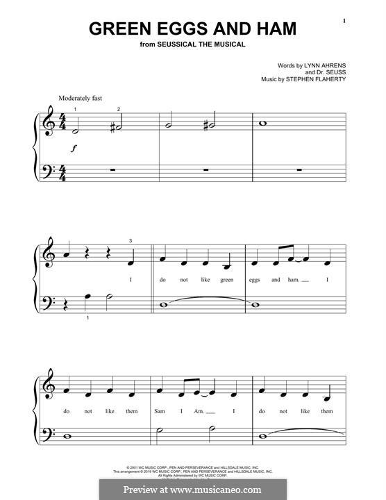 Green Eggs and Ham (Dr. Seuss): Für Klavier by Stephen Flaherty