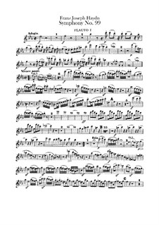 Sinfonie Nr.99 in Es-Dur, Hob.I/99: Flötenstimmen I-II by Joseph Haydn