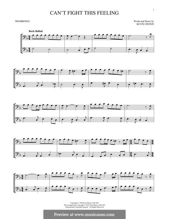 Can't Fight This Feeling: For two trombones by Kevin Cronin