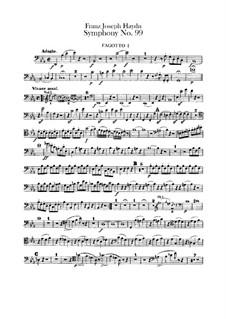 Sinfonie Nr.99 in Es-Dur, Hob.I/99: Fagottenstimmen I-II by Joseph Haydn