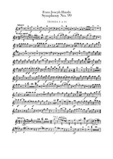 Sinfonie Nr.99 in Es-Dur, Hob.I/99: Trompetenstimmen I-II by Joseph Haydn