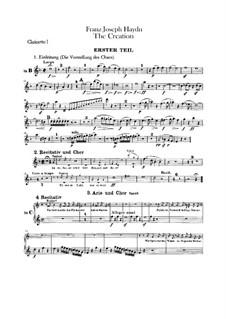 Die Schöpfung, Hob.XXI/2: Klarinettenstimmen by Joseph Haydn