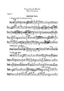 Die Schöpfung, Hob.XXI/2: Fagottstimme by Joseph Haydn