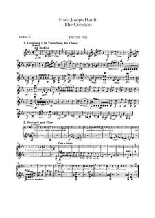 Die Schöpfung, Hob.XXI/2: Violinstimme II by Joseph Haydn