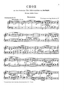 Die Jahreszeiten, Hob.XXI/3: Komm, holder Lenz, für Harmonium und Klavier – Harmoniumstimme by Joseph Haydn