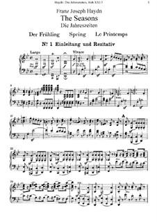 Die Jahreszeiten, Hob.XXI/3: Für Solisten, Chor und Klavier by Joseph Haydn