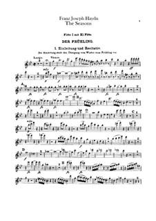 Die Jahreszeiten, Hob.XXI/3: Flötenstimme by Joseph Haydn