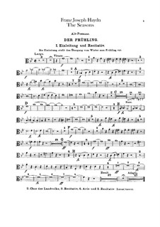 Die Jahreszeiten, Hob.XXI/3: Posaunenstimmen by Joseph Haydn