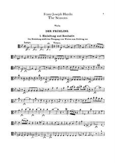 Die Jahreszeiten, Hob.XXI/3: Violastimme by Joseph Haydn