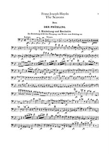 Die Jahreszeiten, Hob.XXI/3: Kontrabass-Stimme by Joseph Haydn