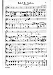 Lob der Faulheit: Lob der Faulheit by Joseph Haydn