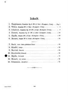 Streichquartett in F-Dur, Hob.III/17 Op.3 No.5: Teil II. Version für Violine und Klavier by Joseph Haydn